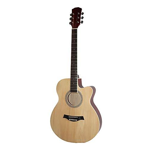 inChengGouFouX Excelente Sensación Guitarra Tamaño 40 Pulgadas acústica de Madera for los Principiantes con 6 Cuerdas Guitarra de Estudiante (Color : Wood Color, Size : 40inch)