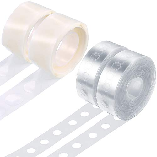 Tatuo Balloon Arch Kit Balloon Garland Decorating Strip Kit 2 Rolls Balloon Tape Strips with 2 Rolls Balloon Glue Point Dots Stickers (Single Hole)