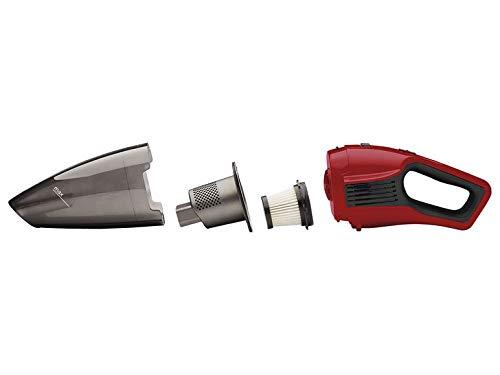 Aspiradora de mano en seco y húmedo, respetuosa con el medio ambiente, batería de iones de litio, montaje en pared, potente motor CC de 18 V, color rojo
