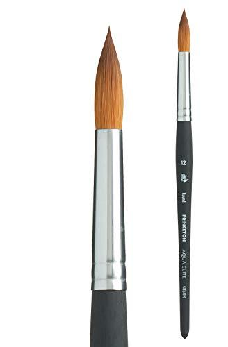 Princeton Aqua Elite, Series 4850, Synthetic Kolinsky Watercolor Paint Brush,Round, 12