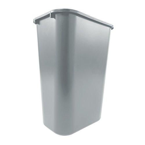 Rubbermaid Commercial Products Fg295700Gray Plastic Resin Deskside Wastebasket 10 Gallon/41 Quart Gray