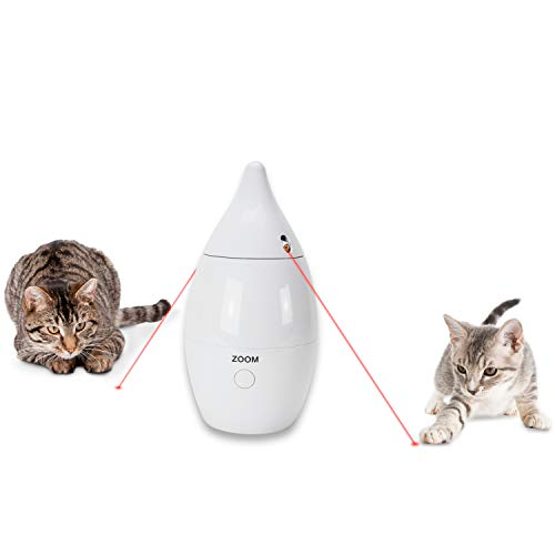 PetSafe Zoom Rotating Laser Cat Toy,White,.992 LB
