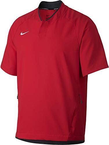 Nike Men's Hot Baseball Practice Jacket (Red/Medium)