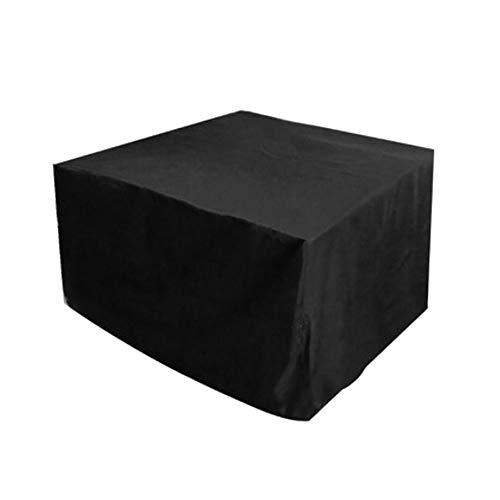 MBUHJ Funda protectora impermeable para muebles de jardín y muebles de jardín 210D Oxford rectangular, resistente al viento, resistente a los rayos UV (126 x 126 x 74 cm)