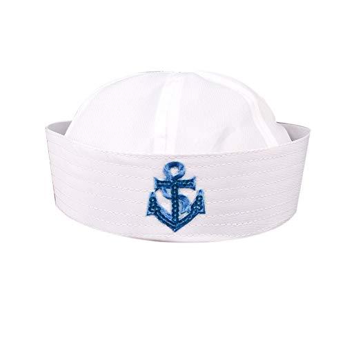 Bontand Uniforme Azul Marino Sombrero Casquillo De Marineros del Barco De Capitn Militar Sombrero Marina Cap Funcionamiento De La Etapa del Sombrero De Las Mujeres De Los Hombres