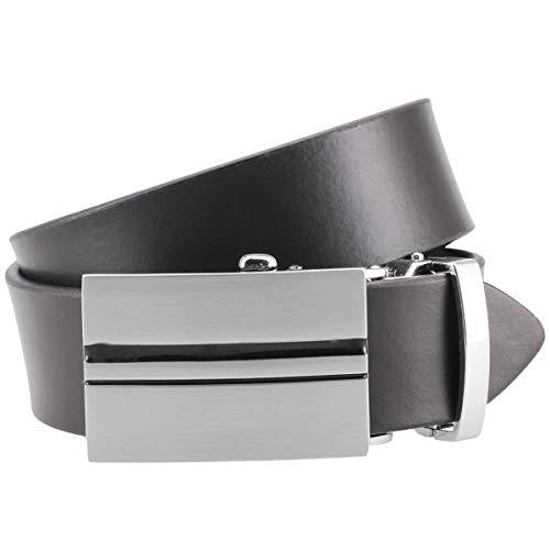 Lindenmann Mens leather belt/Mens belt, leather belt XL with autolock buckle, black, Größe/Size:100, Farbe/Color:marron