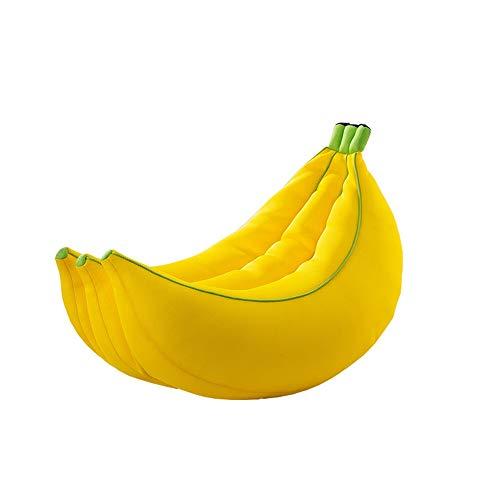 ZHAORLL Paresseux Canapé Pouf Banane Chaise Unique Mignon Balcon Chambre Fille Créatif Simple EPS Granule Canapé Jaune,105 * 70 * 60CM