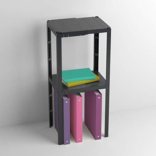 "U Brands Plastic Locker Organizer Shelf, Back to School Essentials, Fits 10"" to 13.75"" Wide Lockers, Grey"