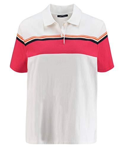 Marc O'Polo Damen 903242953021 Poloshirt, Weiß (Combo Jersey I44), Large