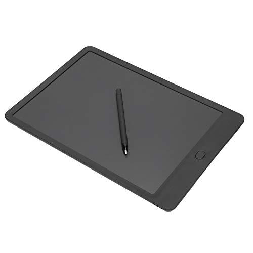 Tableta de Escritura LCD, Tablero de Escritura para Niños, Ideal como Pizarra Digital para Aprender a Leer, Adecuado para Niños, Hogar, Escuela, Oficina (Negro y Blanco)(Negro)