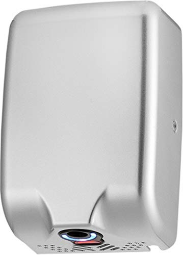 ASIALEO Thin Automatic Electric Commercial Hand DryerHigh Speed Instant Heat & Dry for Bathrooms or Restrooms Stainless Steel 304 Cover Easy Installation