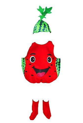 Black Temptation Ropa de Halloween para niños Disfraces de Frutas y Verduras, sandía