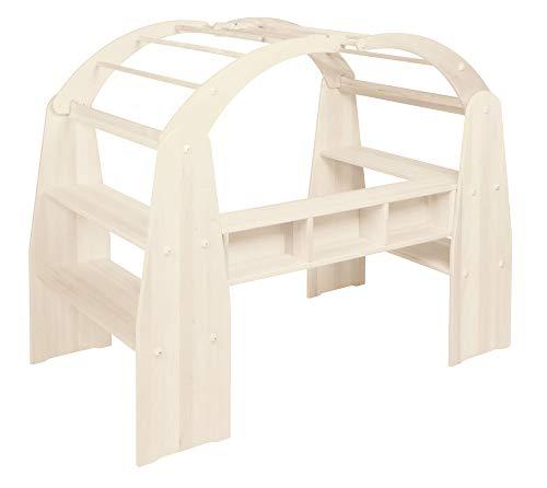 BioKinder 24140 Anna speelhuisje winkel volledig gemaakt van massief hout grenen wit