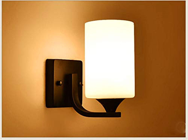 Modern LED Wandleuchte Nordische Lampen Schlafzimmer Wandlampe Nachttischlampe einfache moderne LED warme energiesparende Wohnzimmer TV Hintergrund Wandlampe Hotel,Vintage Retro Café Loft Bar.