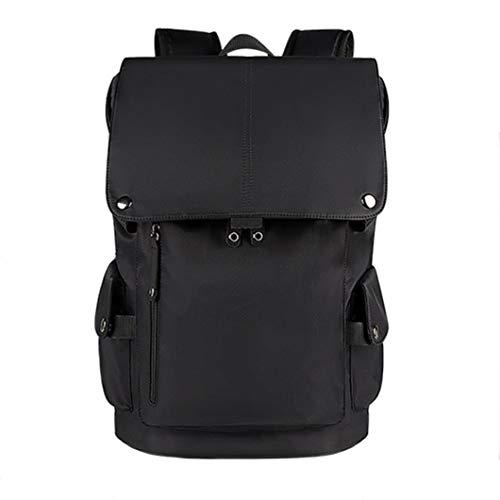 SXGX Mochila de la Bolsa de Laptop USB de 15,6 Pulgadas, Bolsa de la Escuela de Gran Capacidad Impermeable para Hombres y Mujeres, Bolsa de Negocios de Ocio al Aire Libre Black