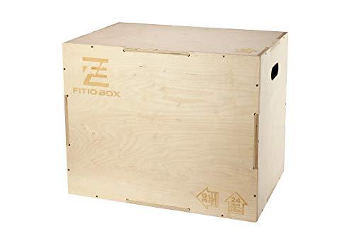 Box Crossfit, Caja de ejercicios, Cajas de entrenamiento cómodas y elegantes, Cajas de madera de contrachapado de abedul resistente, Cajas Crossfit alisadas y reforzadas (X-Large 75 x 60 x 50)