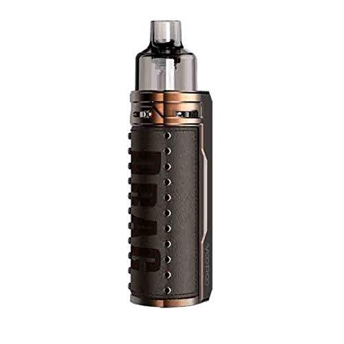 VOOPOO DRAG S Kit Pod System Box Mod Vape Kit with PnP coils 4.5ml cartridge 2500mAh battery 60W Electronic Cigarette Vaporizer (Bronze Knight)