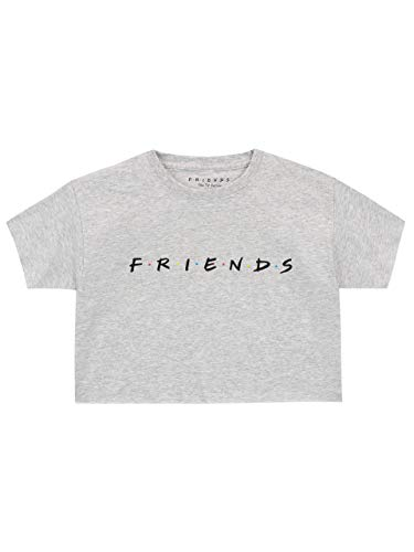 Friends Mädchen Bauchfrei Top Grau 158