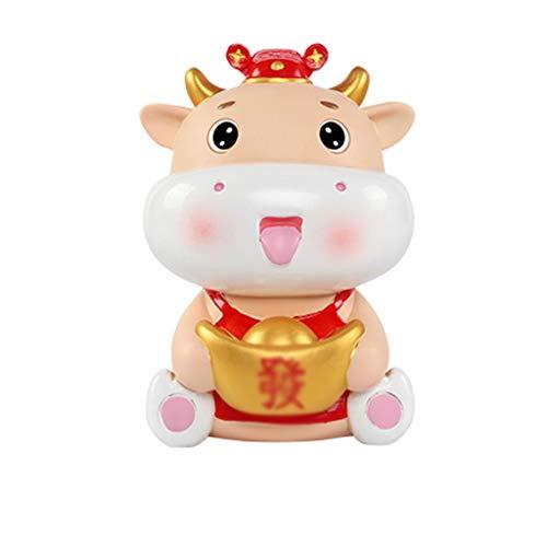 liushop Buddha Statue Ingot Creative Cow Piggy Bank Cute Taurus Children's Toy Piggy Bank Adult Boy Girl Buddha Garden