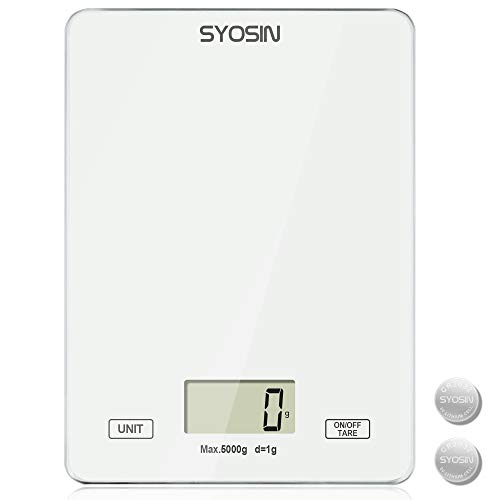 SYOSIN Báscula de cocina digital con pantalla LCD Báscula de alimentos con...