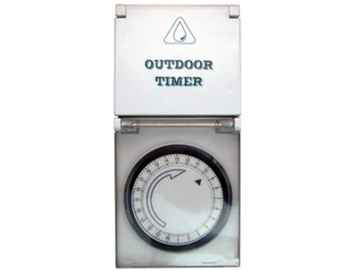 TS-Electronic 45-19711 Zeitschaltuhr mechanisch 24 h Kindersicherung Outdoor, weiß