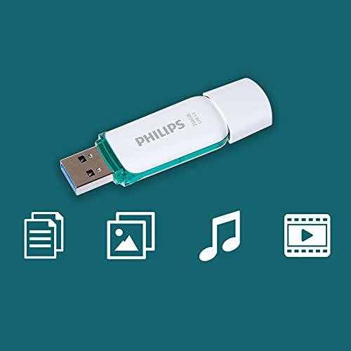 Philips USB 3.0 Flash-Laufwerk 256GB Snow Edition Green, 100MB/s