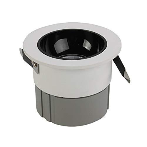 TASGK LED Einbaustrahler, Aluminium Langlebig COB Blendfrei LED-Deckeneinbauleuchte Wärmeleitender Langlebiger Strahler Für Kommerzielle Schaufensterbeleuchtung,5Wcoldlight6000k