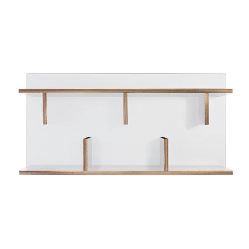 TemaHome Étagère, avec Bords en contreplaqué, Blanc, 90 x 23 x 45 cm