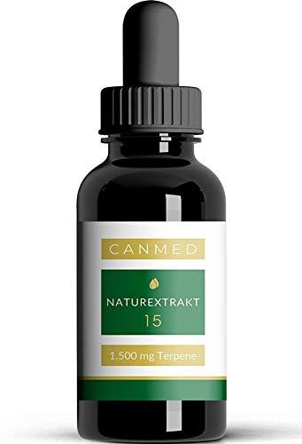 CANMED® NATUREXTRAKT Tropfen | 1.500 mg konzentrierte Terpene | Deutsche Verkehrsfähigkeitsbescheinigung | Natur Öl mit Omega Fettsäuren, Vitaminen, Mineralien und Antioxidantien | 10 ml