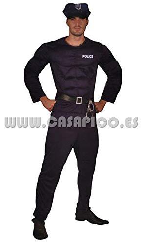 LUCIDA Disfraz POLICIA MUSCULOSO AD