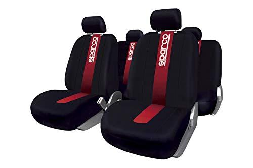 Sparco SPC1013 CLASSIC - Juego de fundas para asientos de coche, 11 Piezas