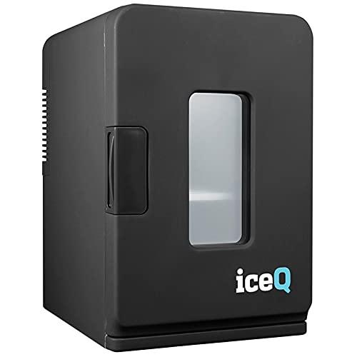 iceQ 15 Litre Deluxe Portable Mini Fridge With Window - Black