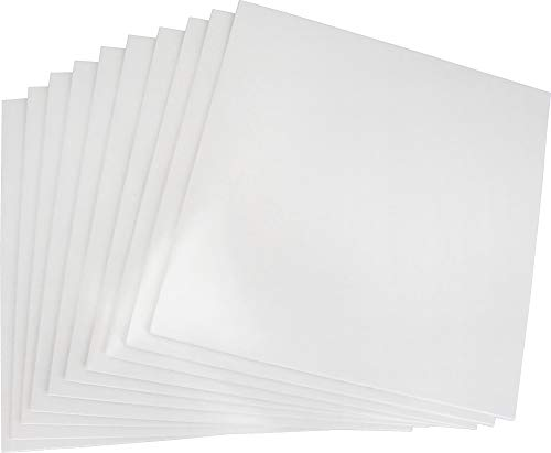 (10) 12' Record Jackets - White (Glossy Finish) - Without Center Hole - #12JW - Protect Against Dust and Wear!