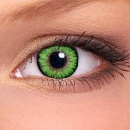 Eye-Effect Grüne Kontaktlinsen Jahreslinsen, Grüne/ 0 Dioptrien, 2 Stück