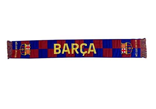 Schal telar nº 1 EQUP. FC. Barcelona - Lizenziertes Offizielles Produkt - Messungen 140 x 20 cm.
