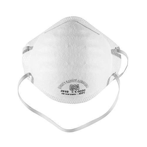 Kongqiabona FFP1 N90 Máscaras Protectoras faciales, Diadema Redonda, máscara Facial para Montar(1pcs)