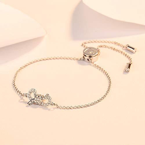 Delicate boog dame witgouden armband elegante romantische armband liefde Valentijnsdag cadeau aan vriendin te sturen