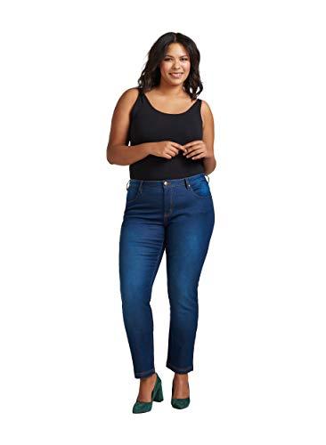 Zizzi Damen Emily Jeans Slim Jeans, per Pack ,Blau (Blue 1052),48...
