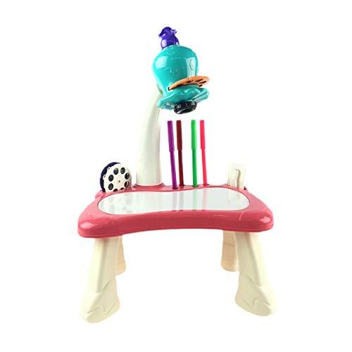 Kirmax Kinder FrüHp?Dagogische Malerei Lernprojektor Kinder Kunsthandwerk Projektion Zeichentisch Schreibtisch Spielzeug (B)
