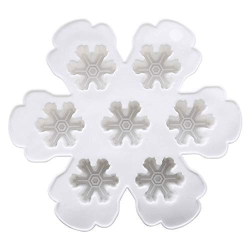 mold makers 5pcs Set DIY 3D Snowflake Shaped Homemade Refrigerator Ice Mold Makers Ice Cube Tray Molds Food PP Mould BPA Free