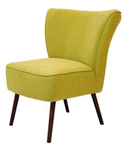 Casa Padrino Retro Salon Sessel Gelbgrün/Braun 63 x 72 x H. 77 cm - 60er Jahre Cocktailsessel