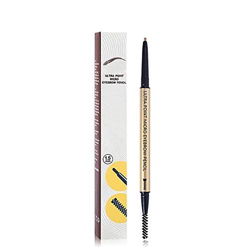 ColorfulLaVie Crayon à sourcils double tête 4 couleurs, Haut tatouage pigmenté de sourcil anti-bavure facile à colorier stylo à sourcils gris brun