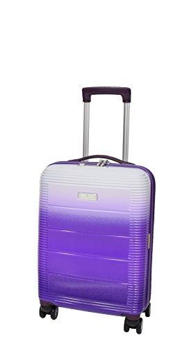 Cabin Size 4 Wheel Hand Luggage Solid Hard Shell Multicoloured TSA Lock Travel Suitcase A203 Purple