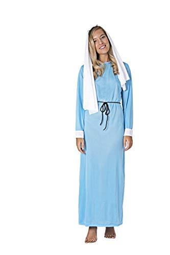Costumizate! Disfraz de Virgen Maria para Mujer Adulta Talla Unica Especial de Navidad