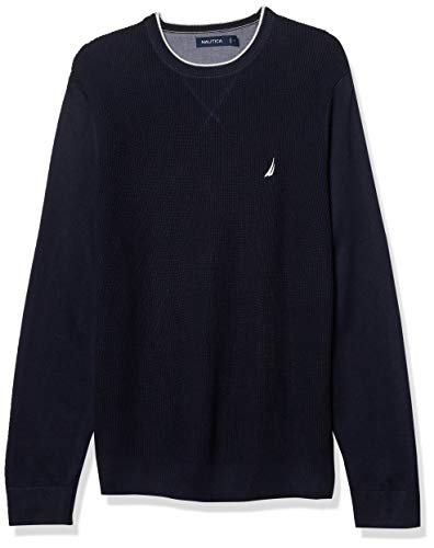 Nautica Men's Ribbed Sweater, Navy, Small