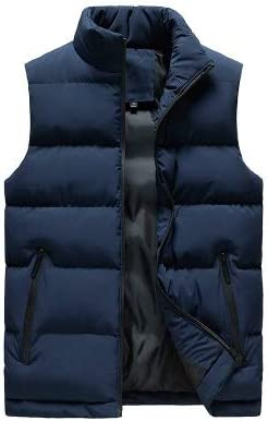 LYLY Vest Women Men Jacket Winter Men Vest for Down Cotton Sleeveless Jacket Waistcoat Man Big Size Warm Waistcoats Coat Vest Warm (Color : Blue, Size : XXS)