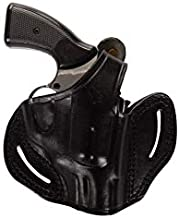 Pusat Holster 357 Magnum Thumb Break 6 Shot Leather OWB 2½ Barrel Holster Handcrafted for Smith Wesson Model 19-66-586-686 Right Hand Black-Brown (Black Right Hand, Smith Wesson 66)