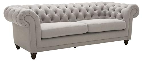 Amazon Brand – Stone & Beam Bradbury Chesterfield Classic Sofa, 92.9'W, Slate