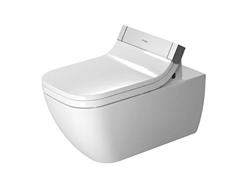 Duravit WC de pared DU Happy D.2 620 mm, sin arandela, Durafix, para SensoWash, blanco WGL