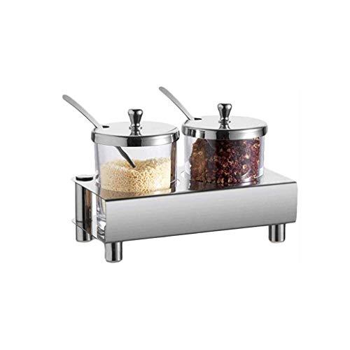 Bar Stools Forniture per cucine condimento in Vetro Jar-stagionato Scatola di Salto Shaker Shaker Set di Ciotola di Zucchero, Scaffale in Metallo Design Moderno